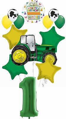 AU31.04 • Buy Farm Tractor 1st Birthday Party Supplies 13 Pc Balloon Bouquet Decorations