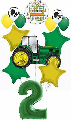 AU31.04 • Buy Farm Tractor 2nd Birthday Party Supplies 13 Pc Balloon Bouquet Decorations
