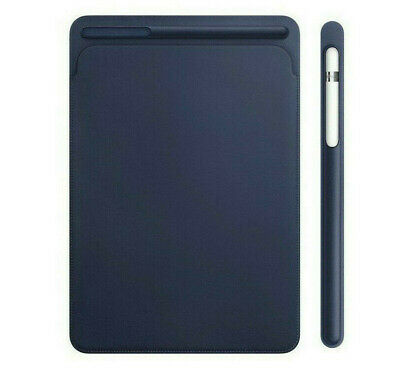 GENUINE Apple IPad Pro 10.5  Leather Sleeve Cover Case MPU22M/A | Midnight Blue • 29.92£