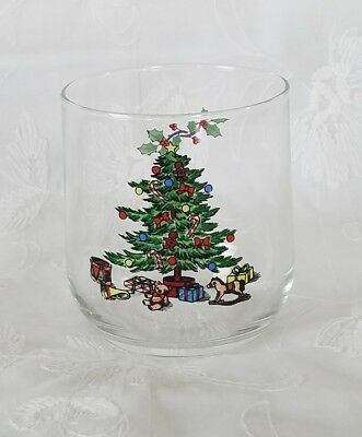 $2.99 • Buy 1 Tienshan Holiday Hostess Christmas Tree Juice Rocks Glass 10oz Old Fashions