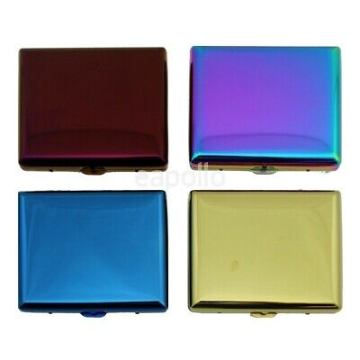 £5.45 • Buy RAINBOW  KING Size Cigarette Case METAL  4 Designs To Choose From