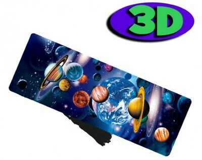 £2.93 • Buy Space Planets Moving 3D Hologram Bookmark With Tassel Book Place Holder 15X5 CM