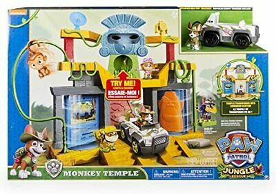 $45 • Buy PAW Patrol Jungle Rescue Monkey Temple Playset With Tracker Pup Figure & Vehicle