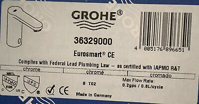 GROHE Electronic Lavatory Faucet Eurosmart CE In PC BRAND NEW • 206.71£