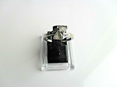 Ladies Silver 925 Ring Size N  With Lovely 2 X Clear / Milky Sparklers • 16.95£