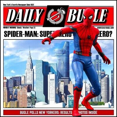 $ CDN39.70 • Buy 1/6 Spiderman Backdrop - Ideal For Hot Toys Spider Man Homecoming MMS426