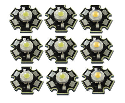 AU3.35 • Buy 20pcs Real Full Watt CREE 1W 3W High Power LED Lamp Bulb Diodes SMD 110-120LM