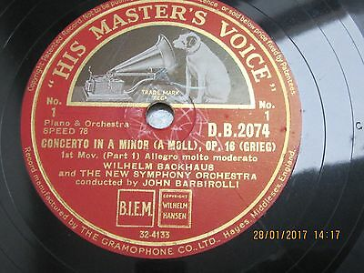 Hmv Concerto In A Minor Op.16 - Grieg D.b.2074 Vinyl • 2.50£