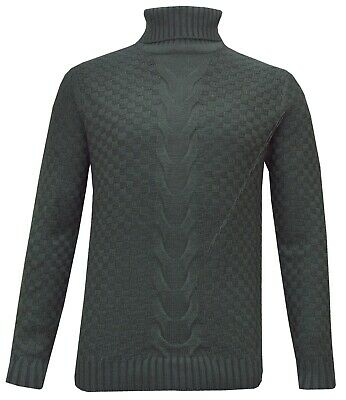 Mens Knitted Polo Roll Turtle Neck Pullover Jumper Sweater Top Winter Golf Top  • 12.95£