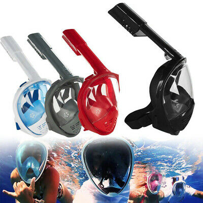 AU24.99 • Buy AU Swimming Tools Full Face Diving Mask Surface Snorkel Scuba For GoPro S/M/L/XL