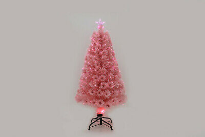 Pink Artificial Christmas Indoor Tree 6ft 4ft Xmas Decoration Fibre Optic LED  • 29.99£