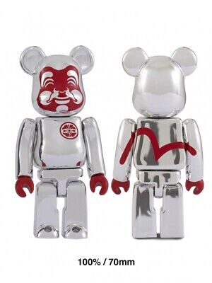 $79.99 • Buy EVISU Bearbrick 100% Be@rbrick Silver Plated Figure Very Limited Sold Out Rare