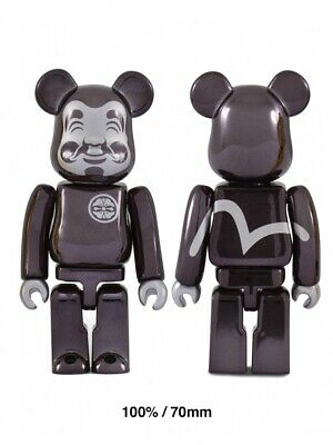 $79.99 • Buy EVISU BE@RBRICK 100% Black-plated Figure Bearbrick Very Limited Sold Out Rare HQ