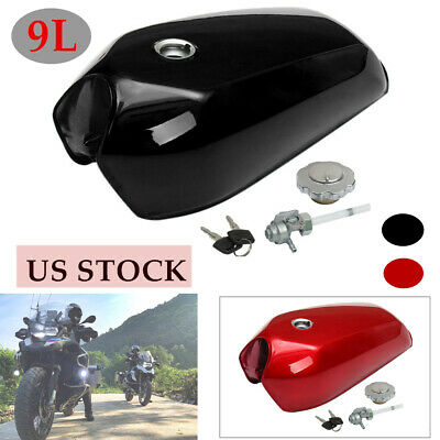 $125.99 • Buy 9L/2.4 Gallon Universal Motorcycle Cafe Racer Vintage Fuel Gas Tank W/Cap Switch
