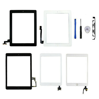 £9.99 • Buy For Apple IPad 2/3/4/5/6/7/8/Mini/Air Digitizer Glass Touch Screen Replacement