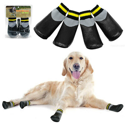 Pet Dog Shoes Waterproof Socks Non-Slip Rain Snow Injured Paws Protective Boots • 5.99£