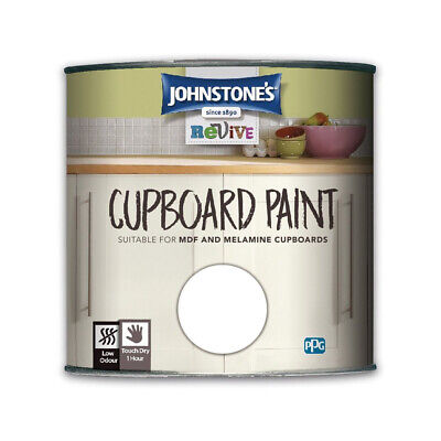 Johnstones Revive Cupboard Paint 750ml - Kitchen Melamine MDF Satin Finish • 16.99£