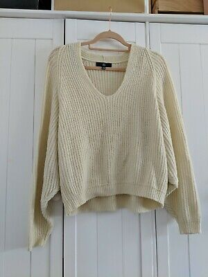 Missguided Cream Slouchy Soft Knit Jumper Size S/M  • 7£