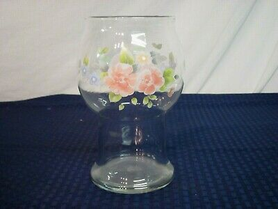 $12.99 • Buy  Pfaltzgraff Clear Glass Floating Candle Vase. Tea Rose. 1985-. Perfect.
