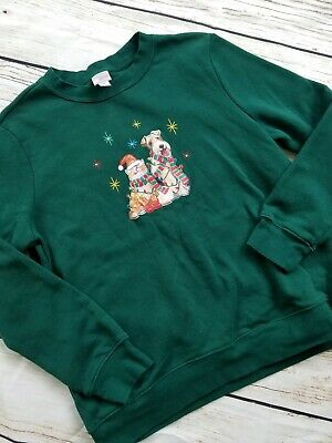 $20 • Buy Cat And Dog Ugly Christmas Sweater Medium