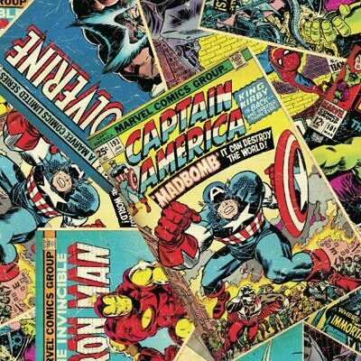 £4.95 • Buy Marvel Avengers Super Heroes Comic Book Fabric MASKS Craft Quilting FQ By The M
