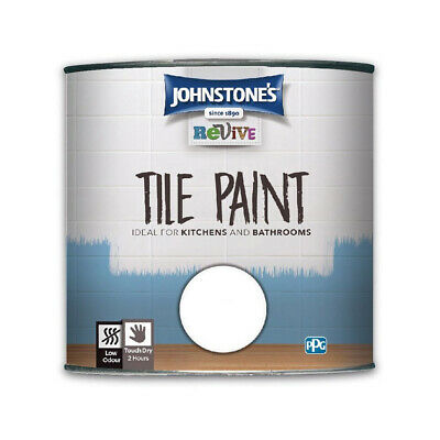 Johnstones Revive Tile Paint 750ml - Ceramic Gloss Finish No Primer Undercoat • 16.99£