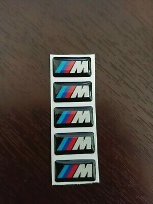 AU6 • Buy BMW M Power E30 E46 E90 STICKER BADGE STEERING WHEEL RIM Interior 5x