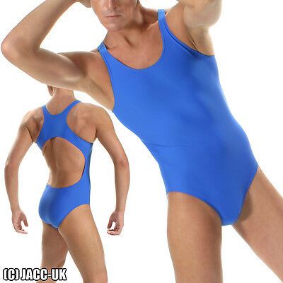 NEW S Mens Royal Blue Lycra Leotard Suit Leotard  Bodysuit Swimwear SR.SH490 • 10.99£