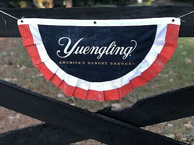 "$24.75 • Buy Yuengling Brewery American Flag Banner Beer Sign 30""X16"" - Brand New In Bag!"
