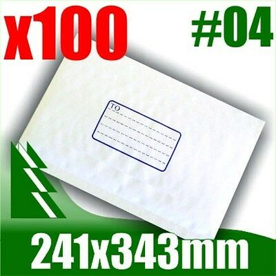 AU44.99 • Buy #04 X 100 Bubble Mailers 241x343mm Padded Bag Envelope B4 BM4 #4