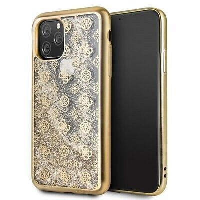 Genuine Guess Glitter 4G Peony Case Cover For Apple IPhone 11 Pro  In Gold • 14.96£