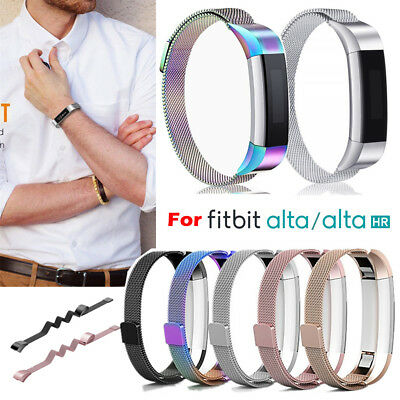 AU12.59 • Buy New Stainless Steel Replacement Metal Wrist Band Strap For Fitbit Alta / Alta HR