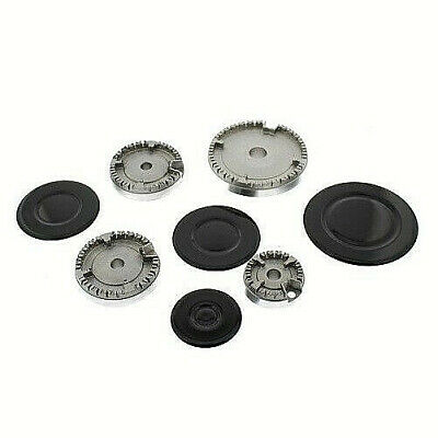 £16.99 • Buy Replacement Gas Oven Cooker Burner + Cap Crown Set Please Check Sizes   Hs19057