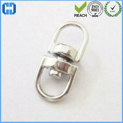 £0.99 • Buy Double Eye Swivel Link Connector Stainless Steel D Ring Connectors Twisting