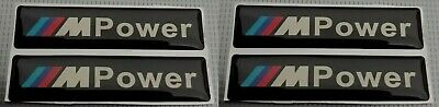 AU7.10 • Buy BMW M POWER Sticker Badge Emblem E36 E46 E90 M3 4x