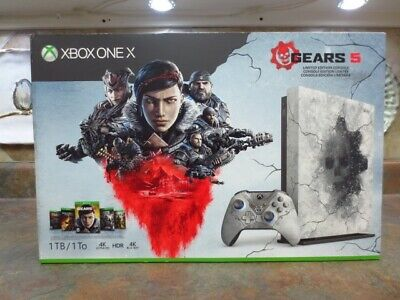 Xbox One X 1TB Gears 5 Limited Edition Bundle NEW!!! Sealed.. • 399$