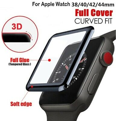 AU3.95 • Buy Apple Watch 5 4 3 2 1 Tempered Glass Full Screen Protector 38/42/40/44mm