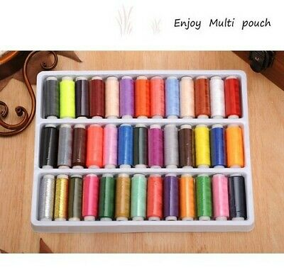 £5.49 • Buy 24-39 Assorted Colour Polyester Strong Sewing Thread Spool Set For Stitching Art