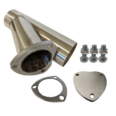 AU63 • Buy Proflow EYPSS25 Exhaust Stainless Steel Cut Out Y Pipe 2.5'', Cap Gasket & Bolts