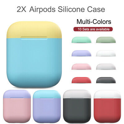 AU4.70 • Buy Ultra Slim Silicone Case For Apple AirPods 1 2 Case Cover Skin 10 Colors