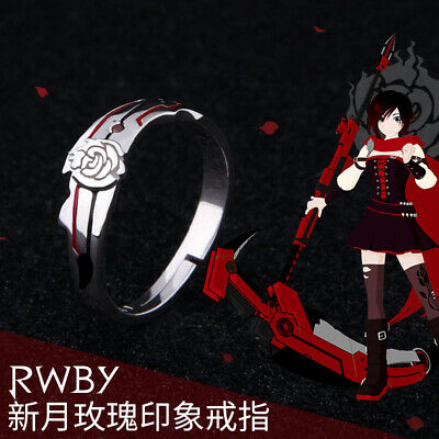 $ CDN33.94 • Buy Rwby Volume 2 Ruby Rose Finger Ring 925 Silver Jewelry Adjustable Cosplay Gift