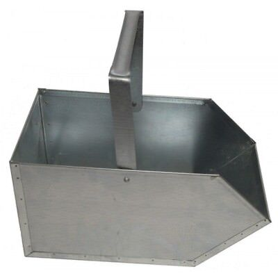 Coal Bucket Galvanised Small Ash Wood Hood Container Scuttle Storage Fireside • 12.68£