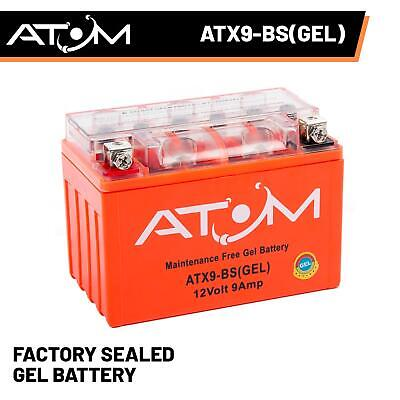 YTX9-BS Atom Gel Motorcycle Battery 12V 9Ah - Replaces YTX9-BS • 26.49£