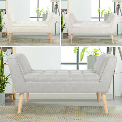 Bedroom Upholstered Bench Footstool Window Seat Pouffe Chair Bed End Sofa Stool • 119.94£