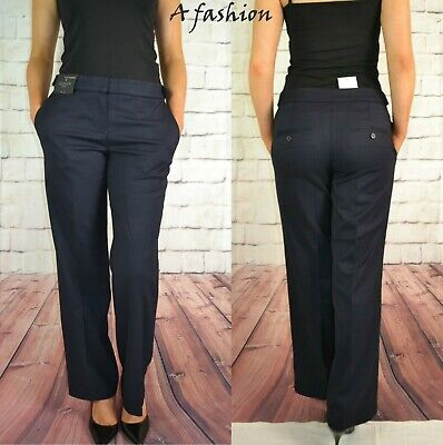Next Ladies Bootcut Navy Blue Workwear Trousers New In 3 Leg Lengths 190 • 15.99£
