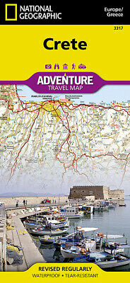 National Geographic Island Of Crete Greece Europe Adventure Travel Road Map 3317 • 10.02£