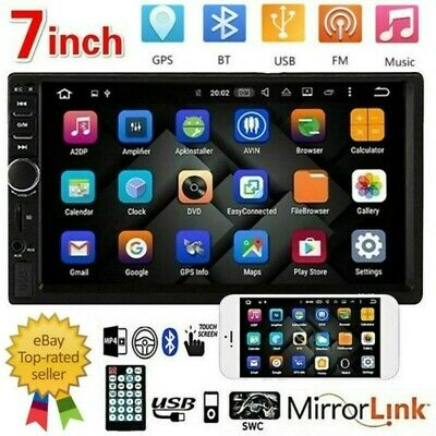 $34.99 • Buy 7  Double 2 DIN Car Stereo Radio MP5 Bluetooth Touch Screen USB AUX Mirror Link