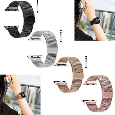 AU13.99 • Buy Apple Watch Series 1-5 Milanese Magnetic Stainless Loop Strap Band Iwatch 42/44