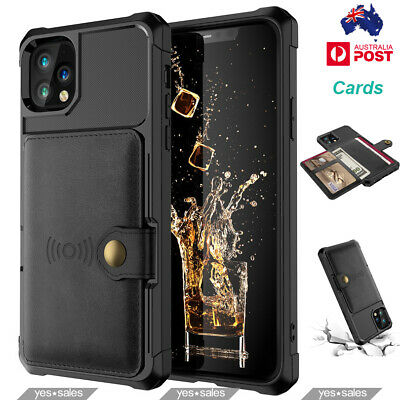 AU15.99 • Buy Luxury Card Slot Holder TPU Leather Case Cover For IPhone 11 Pro Max 12 XR XS SE