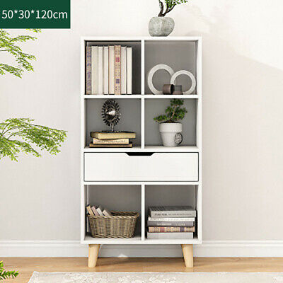 Corner Stand Cupboard 5 Shelves Display Cabinet Storage Unit Furniture White New • 48.99£